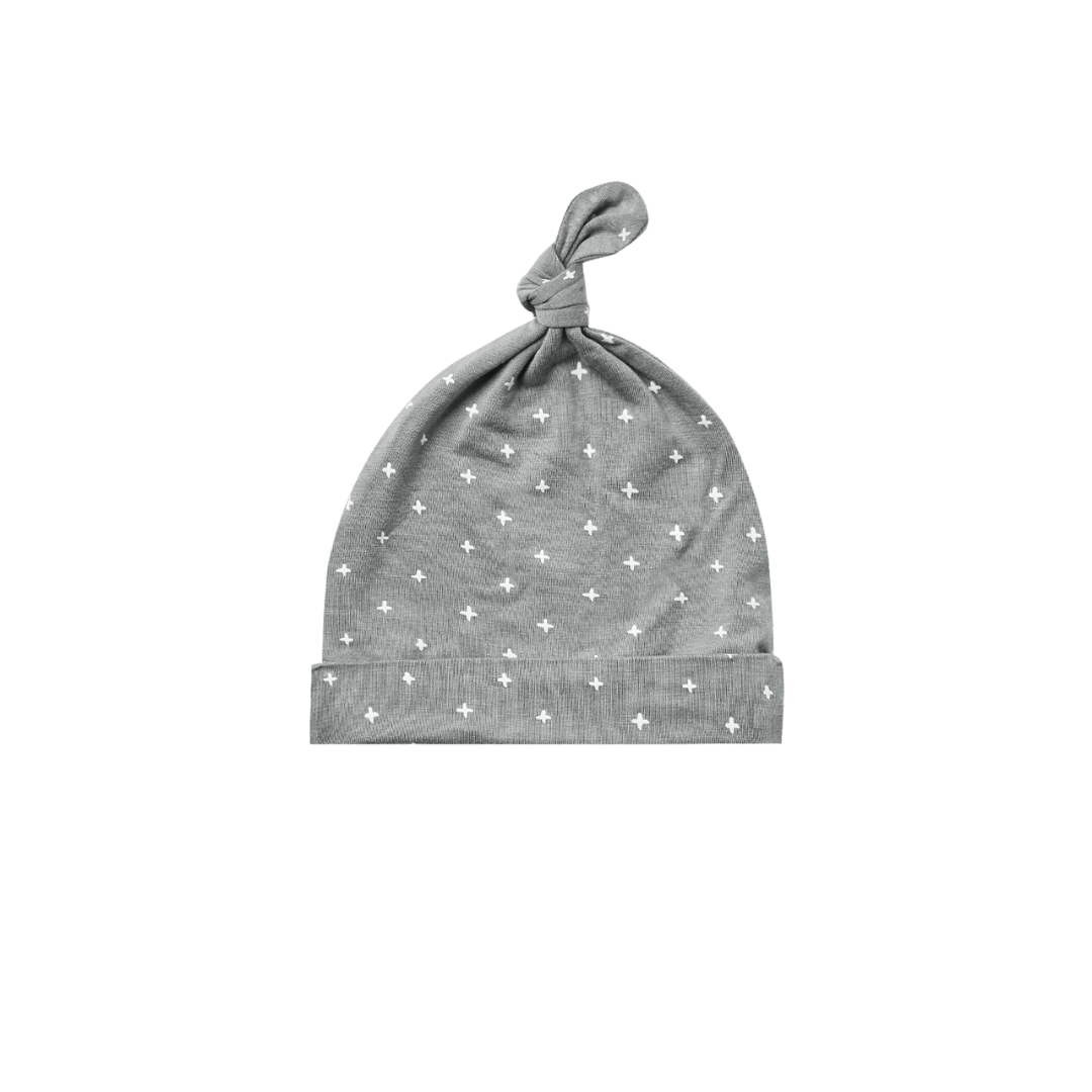 Quincy Mae Bamboo Knotted Baby Hat - Dusty Blue