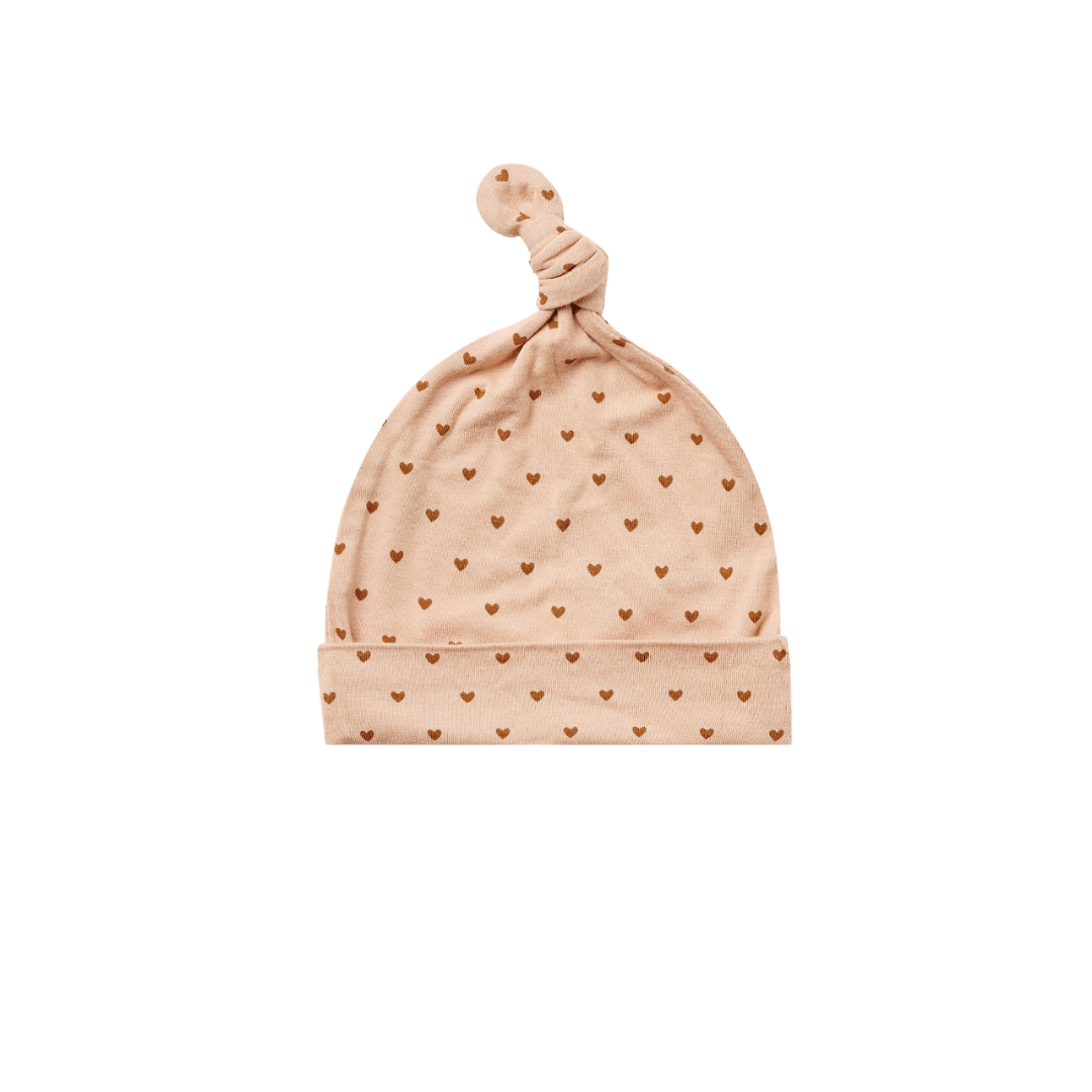 Quincy Mae Bamboo Knotted Baby Hat - Petal