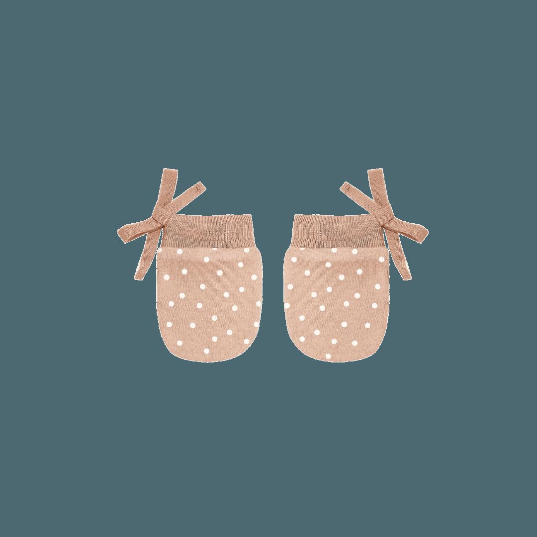 Quincy Mae No Scratch Mittens - Petal Dots