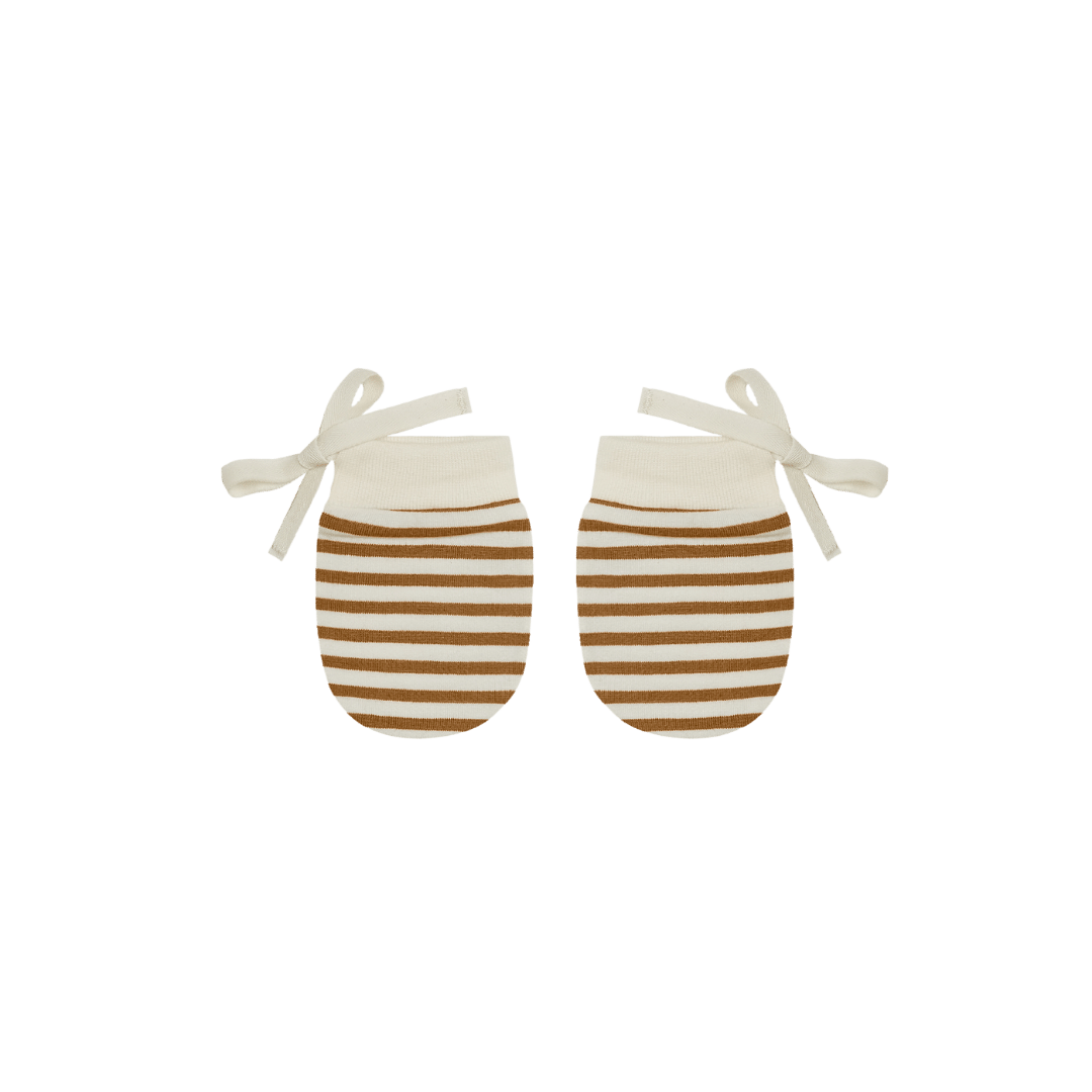 Quincy Mae No Scratch Mittens - Walnut Stripe