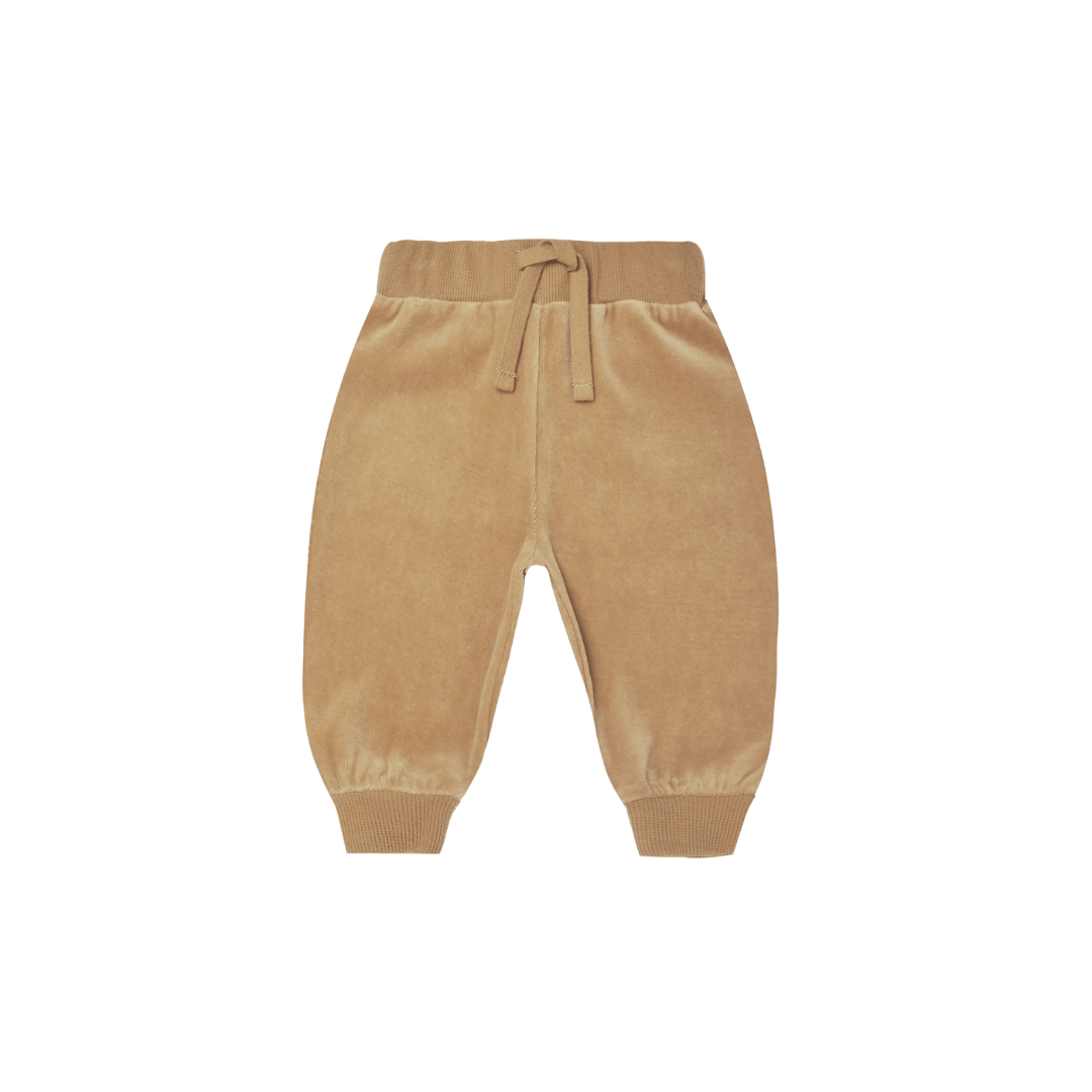Quincy Mae Relaxed Velour Sweatpants - Honey
