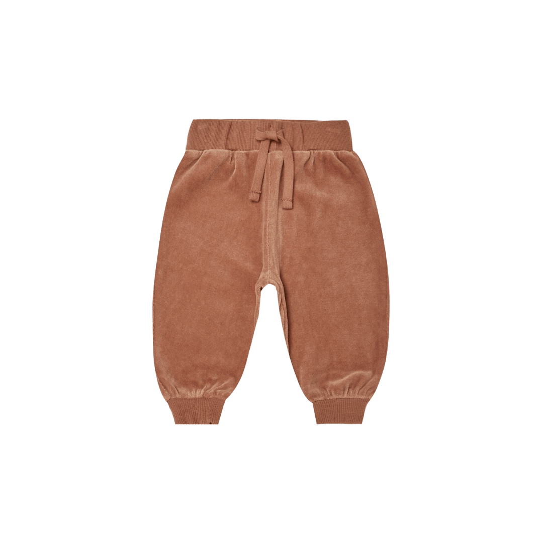 Quincy Mae Relaxed Velour Sweatpant - Clay