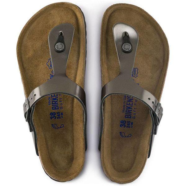 Birkenstock Birkenstock Gizeh Metallic Soft Footbed
