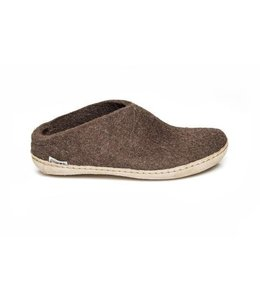 Glerups Slipper with Leather Sole