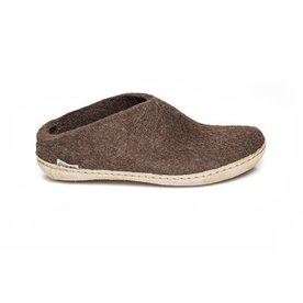 Glerups Glerups Slipper with Leather Sole