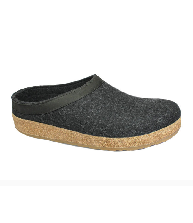 Haflinger Grizzly Leather Wool Clog