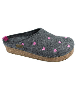 Haflinger Grizzly Cuoricino Wool Clog