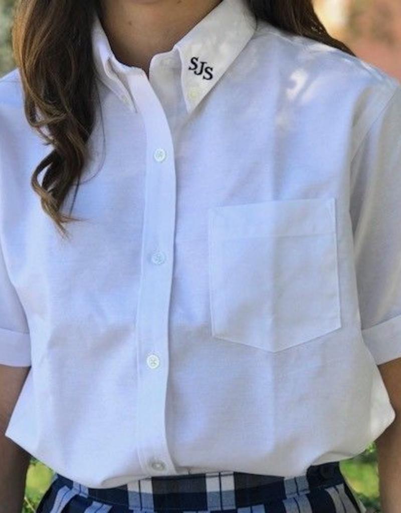 Tulane Shirts, Inc. S/S Girls Catholic/Blank Oxford