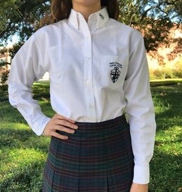 Tulane Shirts, Inc. L/S Girls Catholic/Blank Oxford