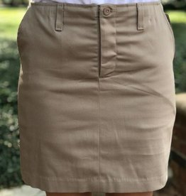 K-12 Stretch Skort 17-25 Khaki