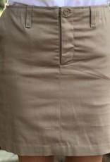 K-12 Stretch Junior Khaki Skort