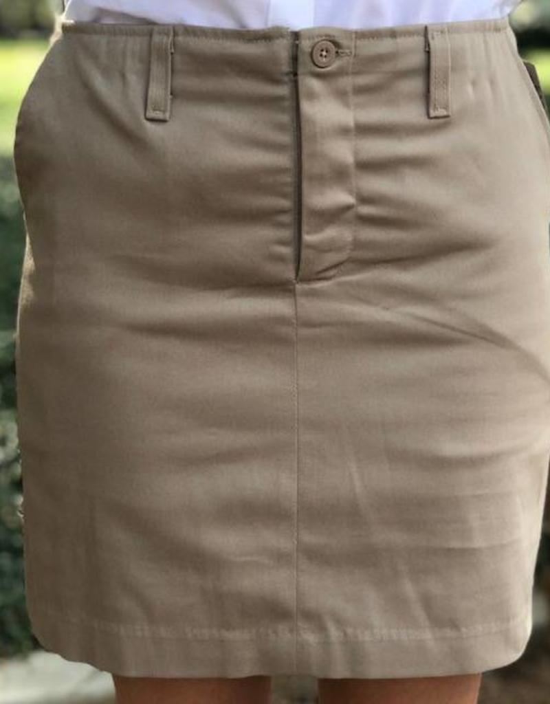 K-12 Stretch Skort 7-18 Khaki