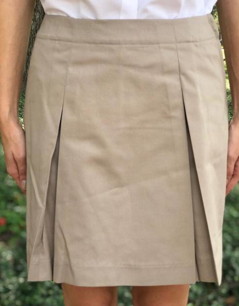 K-12 Inverted Skort 3-6X Khaki