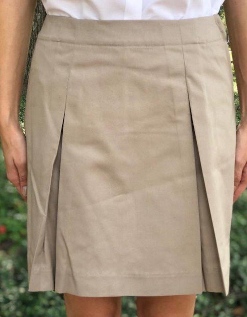 K-12 Inverted Half Size Khaki Skort
