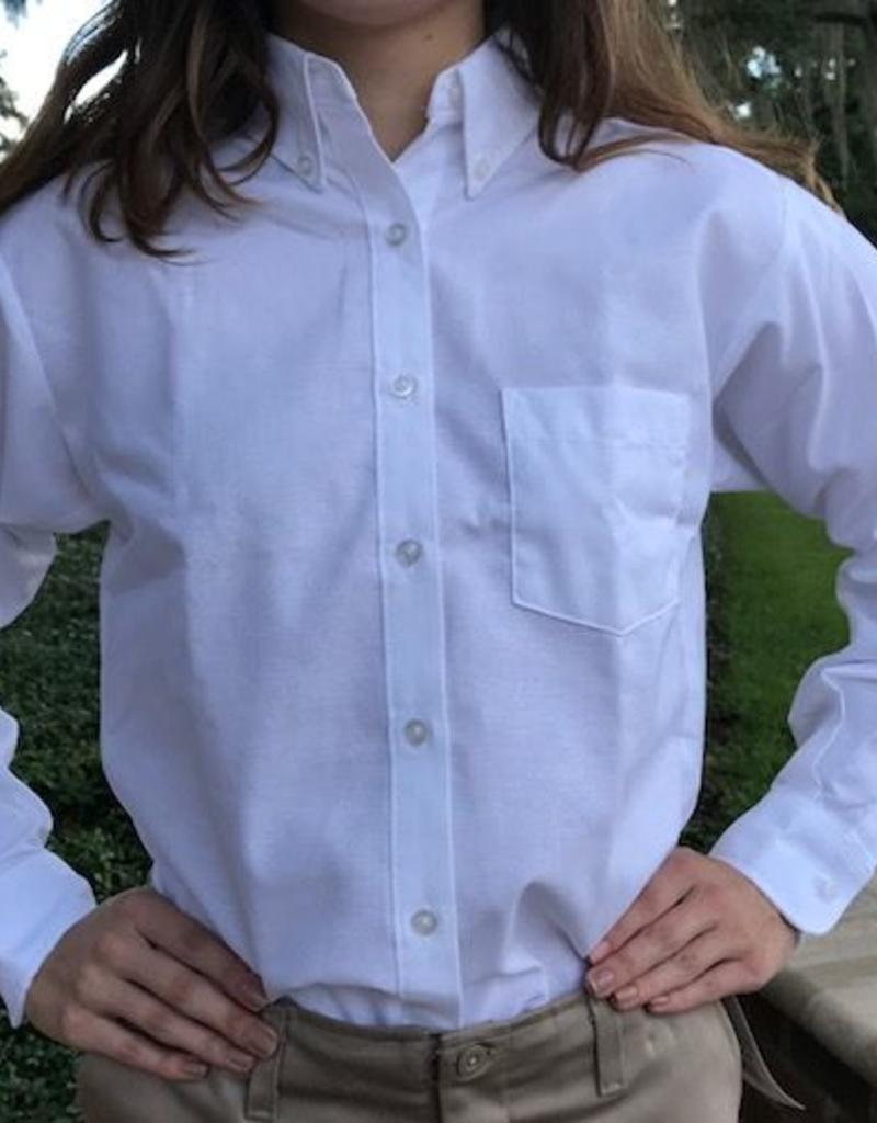 Tulane Shirts, Inc. L/S Ladies Blank Oxford