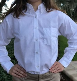 Tulane Shirts, Inc. L/S Girls Oxford Blank