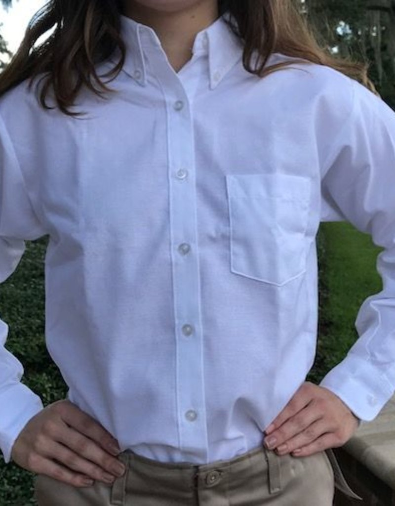 Tulane Shirts, Inc. L/S Girls Oxford Blank