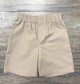 K-12 Khaki Pull-On Shorts