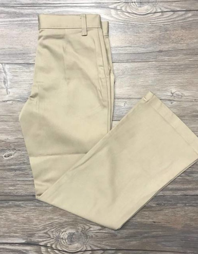 K-12 Girls Flare Leg Pants Slim 3-6X Khaki