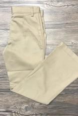 K-12 Girls Flare Leg Pants Slim 7-16 Khaki