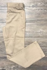 K-12 Girls Straight Leg Pants Slim 7-16 Khaki