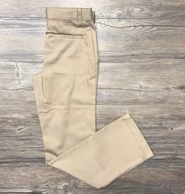 K-12 Girls Straight Leg Pants 3-15JR Khaki