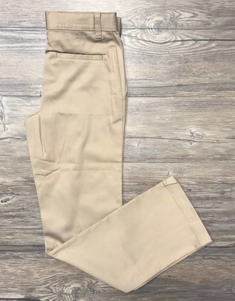 K-12 Girls Straight Leg Pants 3-15JR Khaki