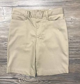 K-12 Girls Shorts Slim 7-16 Khaki