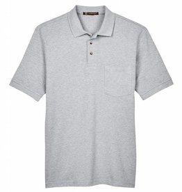 Harriton Harriton Mens Ringspun Piqué Pocket Polo