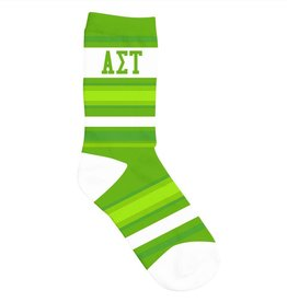 Sock Prints Greek Crew Socks