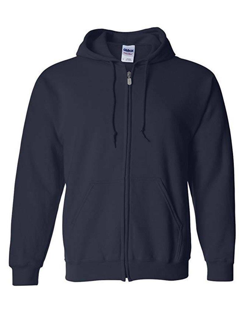 Gildan Full-Zip Hoodie Sweatshirt Youth