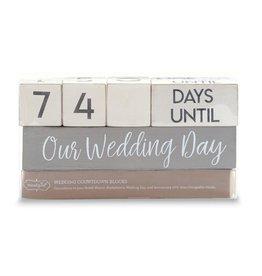 Mud-Pie Wedding Countdown Block Set
