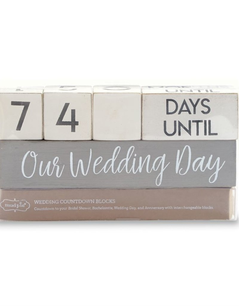 Mud-Pie Wedding Countdown Block Set
