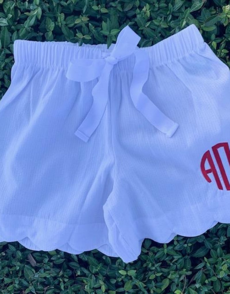 Love That Cotton Scalloped Lounge Shorts