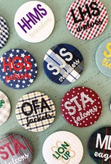 Greek Divine and More Embroidered School Spirit Buttons