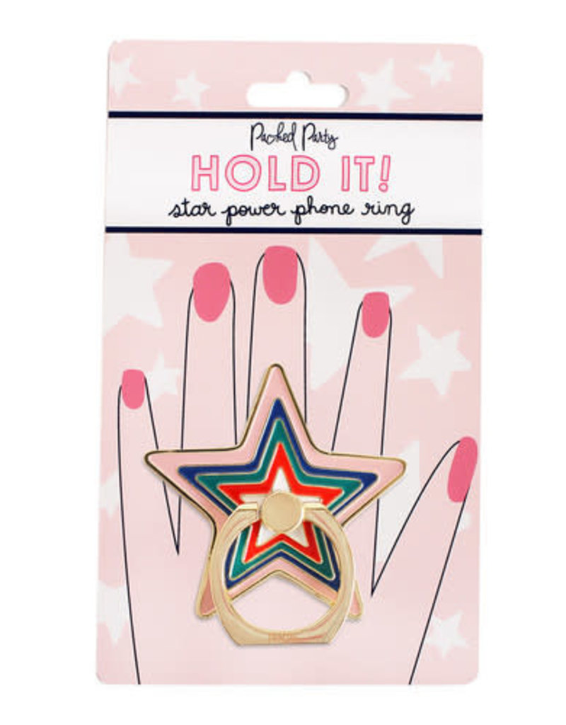 Packed Party Hold It Star Phone Ring