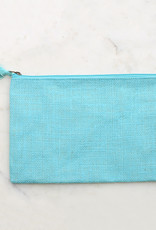 The Royal Standard Jute Cosmetic Bag w/ Embroidery