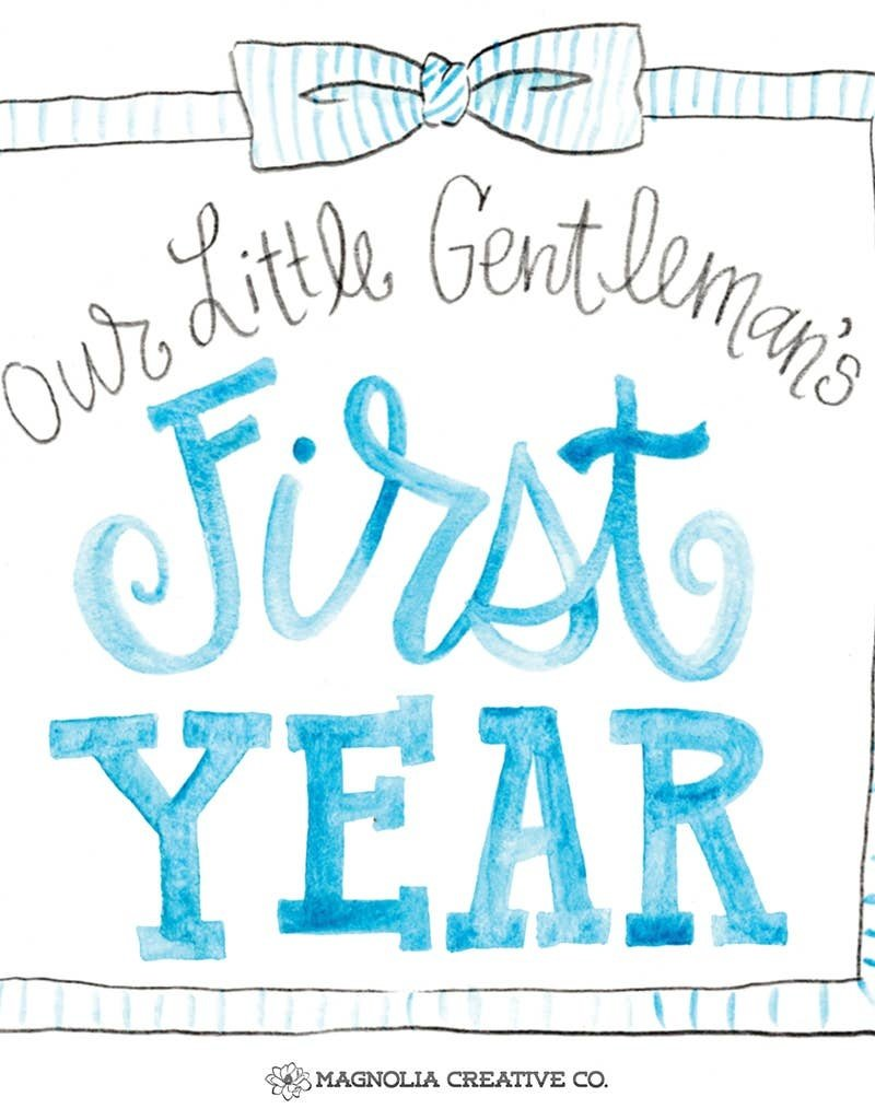 Magnolia Creative Co. Little Gent Milestone Cards