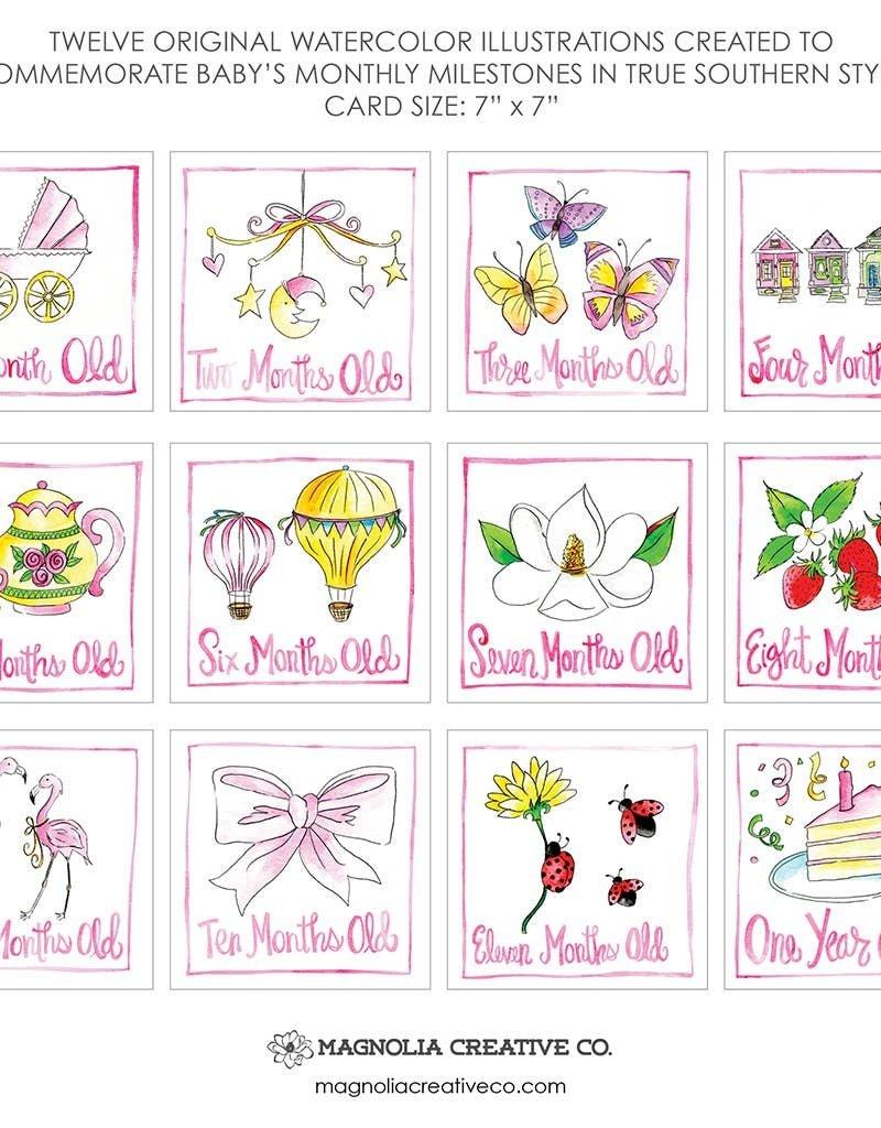 Magnolia Creative Co. Little Lady Milestone Cards