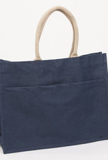 Mud-Pie Solid Jute Tote