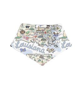 Fish-Kiss Louisiana Baby Bandana
