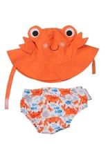 Zoocchini Baby Sun Hat& Diaper Set