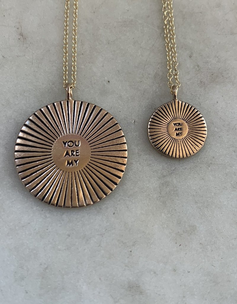 Mimosa Handcrafted Bronze Necklace