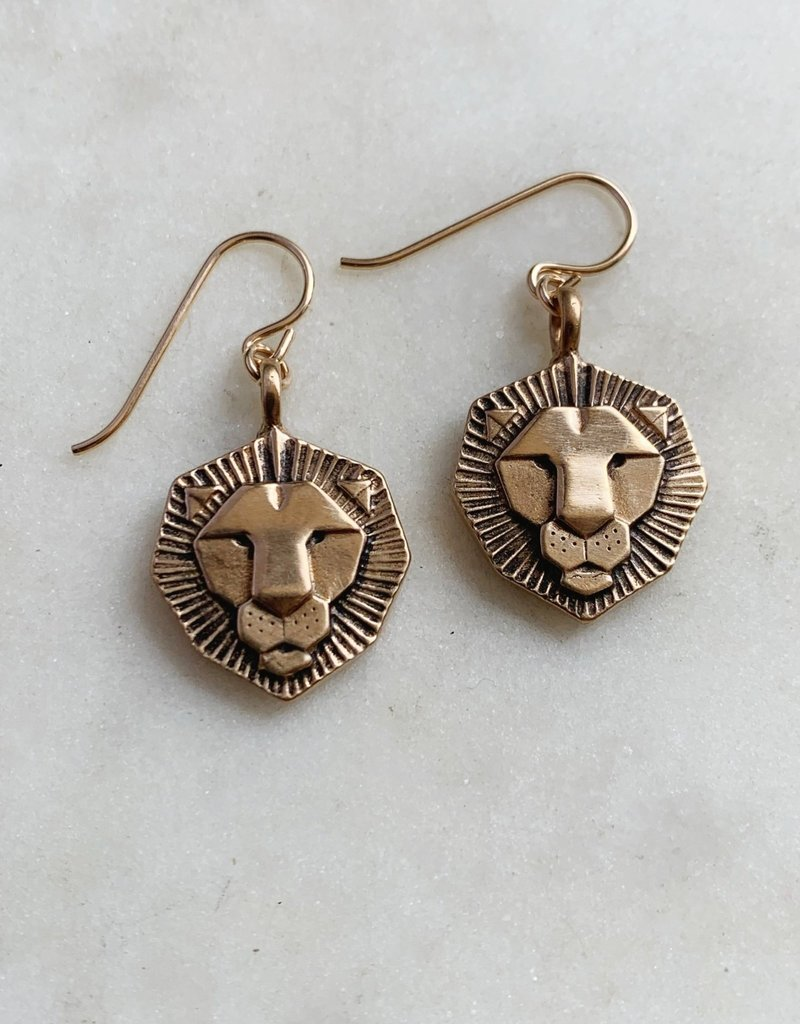 Mimosa Handcrafted Bronze Earrings
