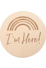 Bebe Au Lait Wooden Announcement Disc