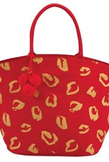 Mud-Pie Shimmer Juco Tote