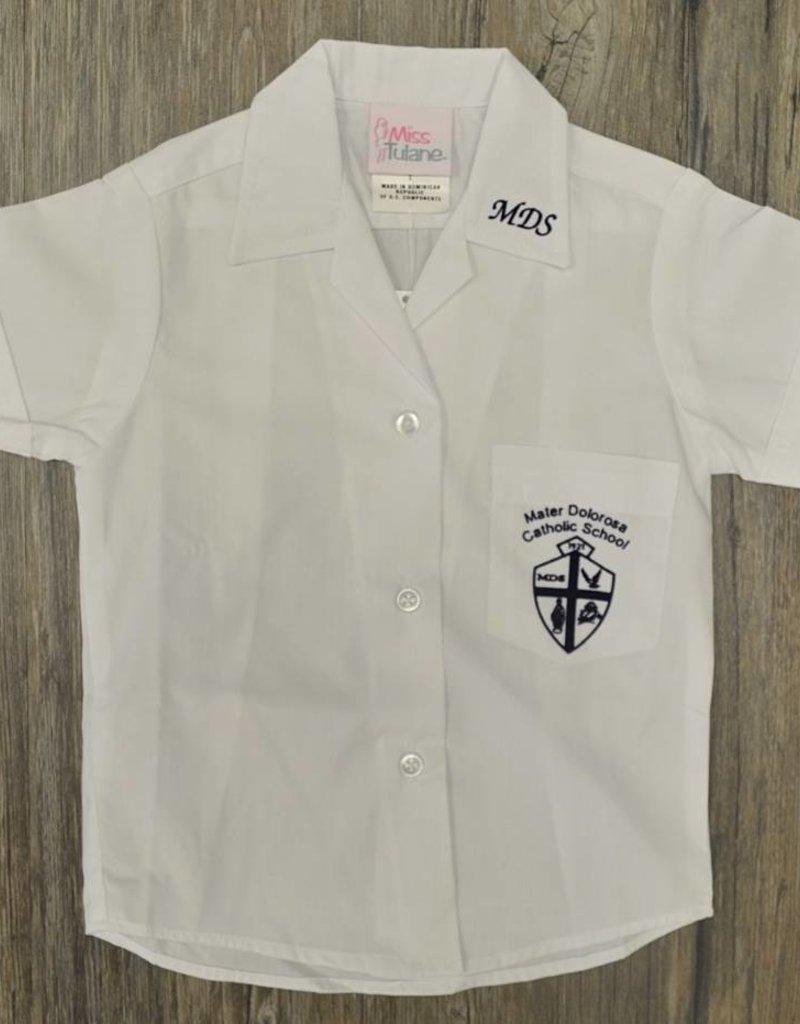 Tulane Shirts, Inc. S/S Ladies Catholic/Blank Broadcloth
