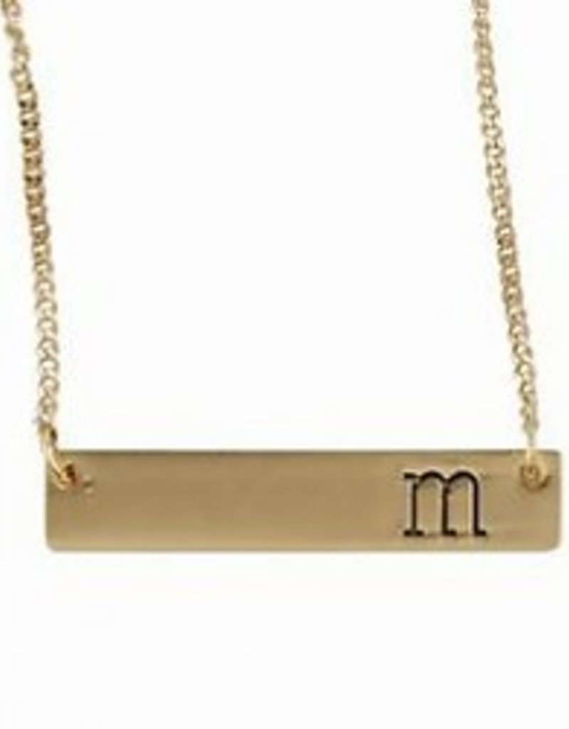 Mud-Pie Initial Bar Necklace