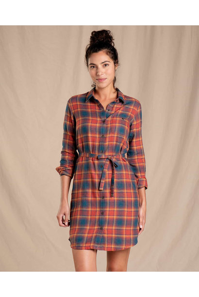 Toad & Co Re-Form Flannel Shirtdress