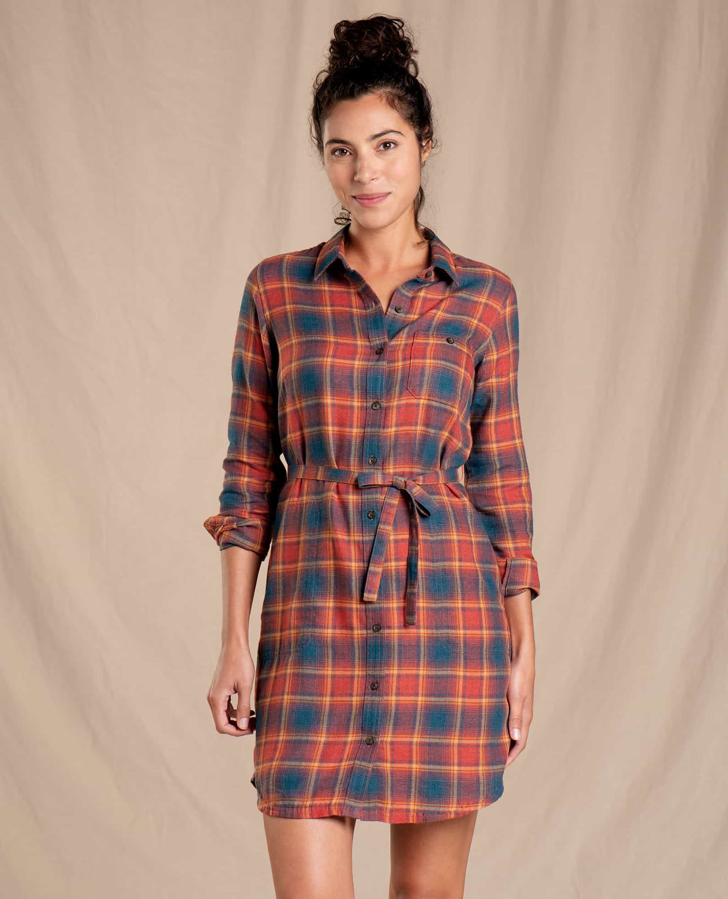 Toad & Co Re-Form Flannel Shirtdress-1